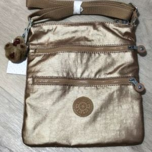 Kipling Keiko Golden Rod Metallic Crossbody Bag